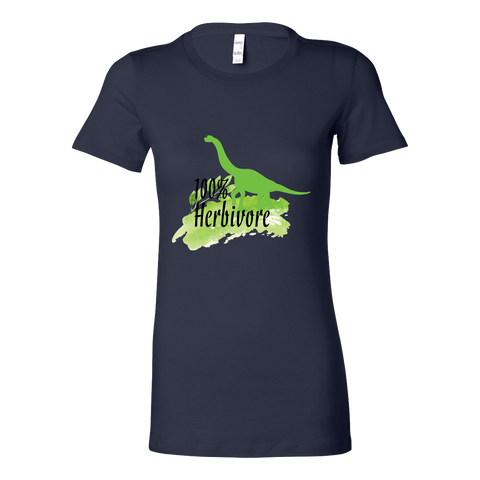 Vegan Love 100% Herbivore T-shirt (4 colors)-Womens T-shirt-Vegan Love-Unicorn Goods