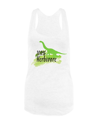 Vegan Love 100% Herbivore Tank Top-Womens Tank Top-Vegan Love-Unicorn Goods