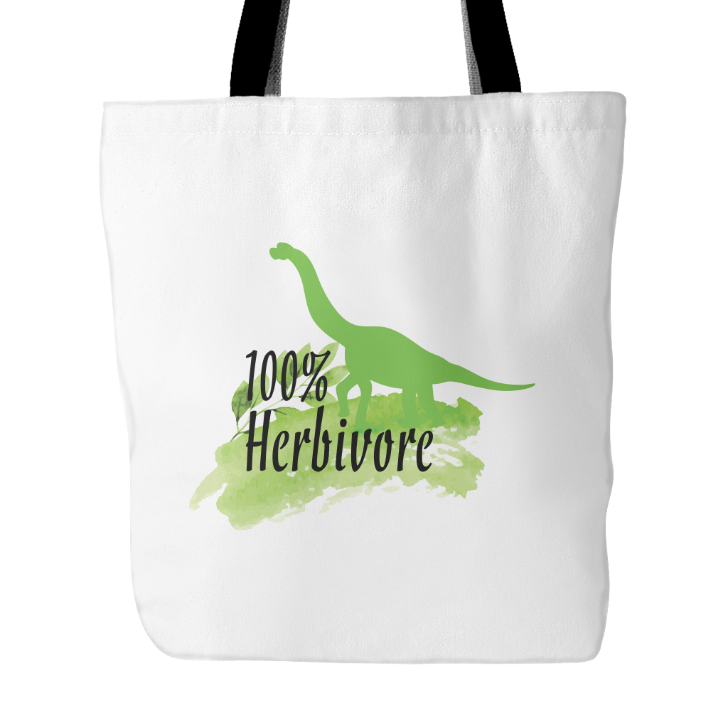 Vegan Love 100% Herbivore Tote Bag-Unisex Tote Bag-Vegan Love-Unicorn Goods