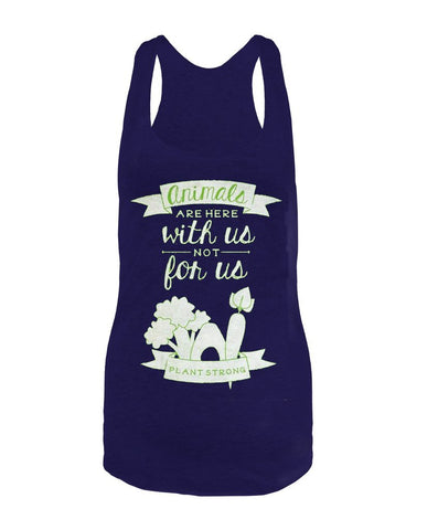 Vegan Love Animals Are With Us Tank Top (3 colors)-Womens Tank Top-Vegan Love-Unicorn Goods