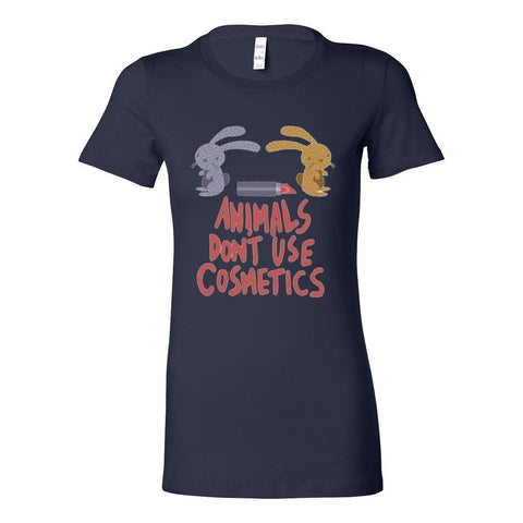 Vegan Love Animals Don't Use Cosmetics T-shirt (4 colors)-Womens T-shirt-Vegan Love-Unicorn Goods