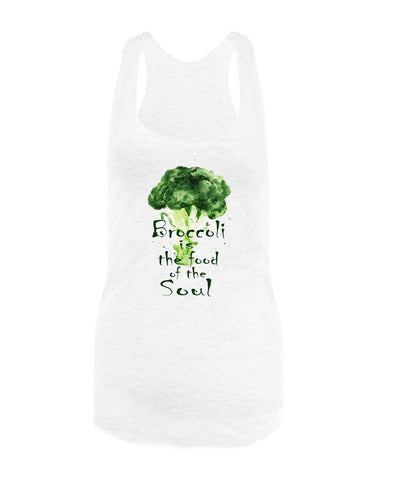 Vegan Love Broccoli Is The Food Of The Soul Tank Top (2 colors)-Womens Tank Top-Vegan Love-Unicorn Goods