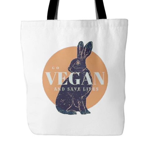 Vegan Love Go Vegan Tote Bag (2 colors)-Unisex Tote Bag-Vegan Love-Unicorn Goods