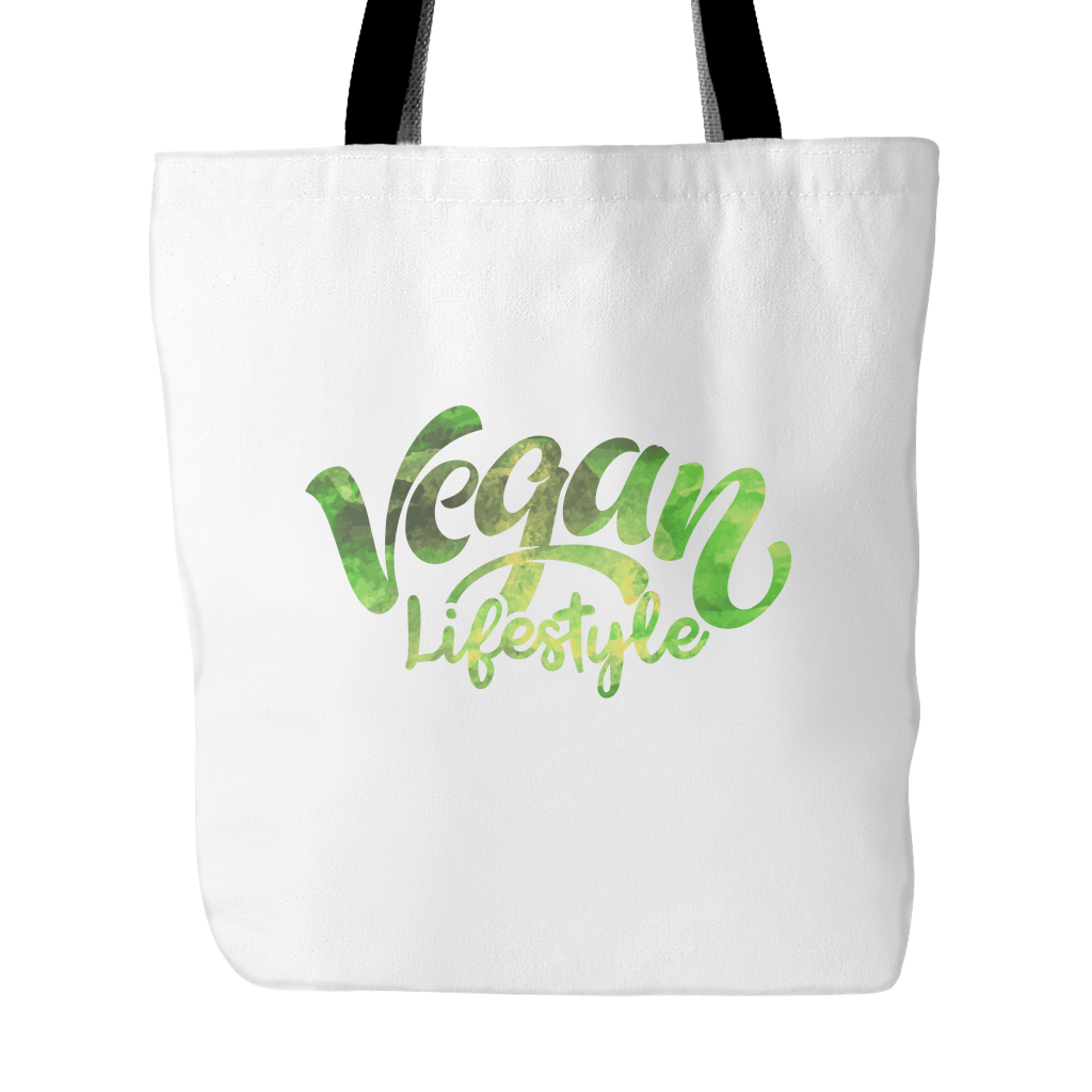 Vegan Love Vegan Lifestyle Tote Bag (2 colors)-Unisex Tote Bag-Vegan Love-Unicorn Goods