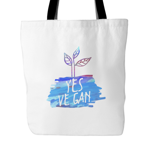 Vegan Love Yes Ve Gan Tote Bag (2 colors)-Unisex Tote Bag-Vegan Love-Unicorn Goods