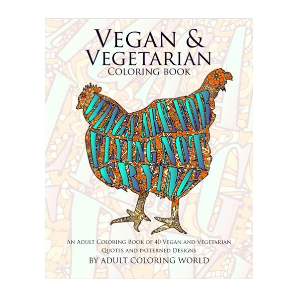 Vegan & Vegetarian Coloring Book-Nonfiction-Amazon-Unicorn Goods