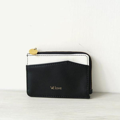 VElove Card Holder in Black-Womens Wallet-VElove-Unicorn Goods