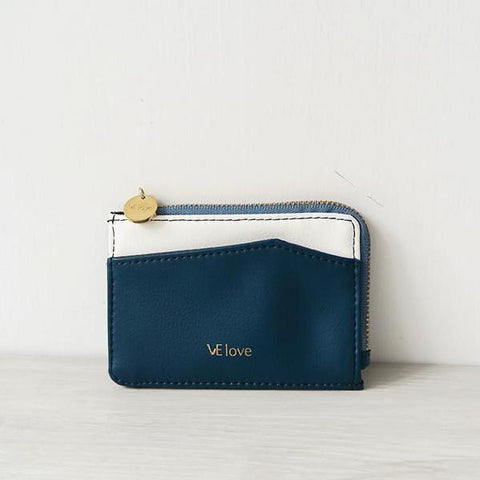 VElove Card Holder in Blue-Womens Wallet-VElove-Unicorn Goods