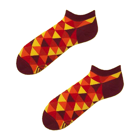 Vogas Summer Flame Triangle Socks-Unisex Socks-Vogas-Unicorn Goods