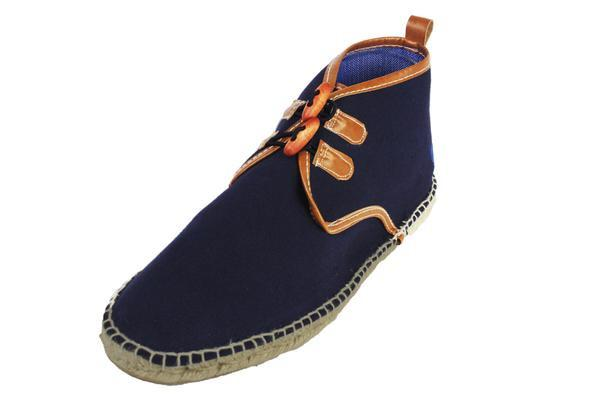 Vogas Women's Navy Blue Aspas Chukkas-Womens Sneakers-Vogas-Unicorn Goods