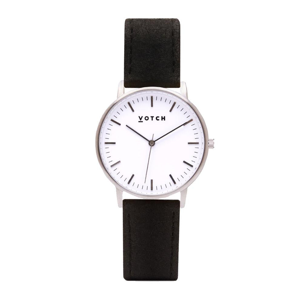 Votch Piñatex Pineapple Leather Strap and Silver Face Watch-Unisex Watch-Votch-Unicorn Goods
