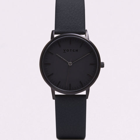 Votch Small All Black Face with Black Strap-Unisex Watch-Votch-Unicorn Goods