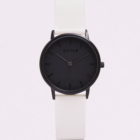 Votch Small All Black Face with Off White Strap-Unisex Watch-Votch-Unicorn Goods