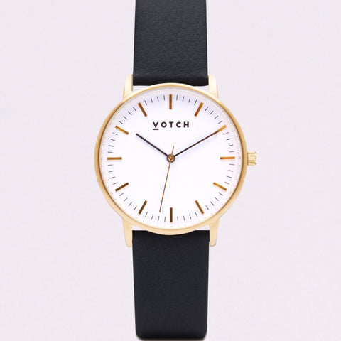 Votch Small Gold Face with Black Strap-Unisex Watch-Votch-Unicorn Goods