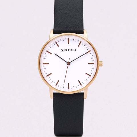 Votch Small Rose Gold Face with Black Strap-Unisex Watch-Votch-Unicorn Goods