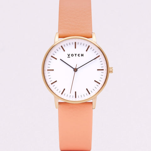 Votch Small Rose Gold Face with Coral Strap-Unisex Watch-Votch-Unicorn Goods