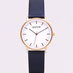 Votch Small Rose Gold Face with Navy Strap-Unisex Watch-Votch-Unicorn Goods
