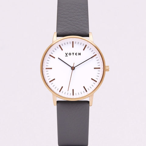 Votch Small Rose Gold Face with Slate Grey Strap-Unisex Watch-Votch-Unicorn Goods