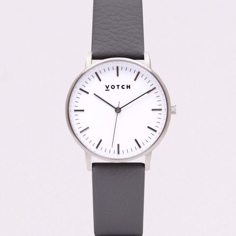 Votch Small Silver Face with Slate Grey Strap-Unisex Watch-Votch-Unicorn Goods
