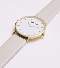 Votch Watch in Light Grey and Gold-Unisex Watch-Votch-Unicorn Goods