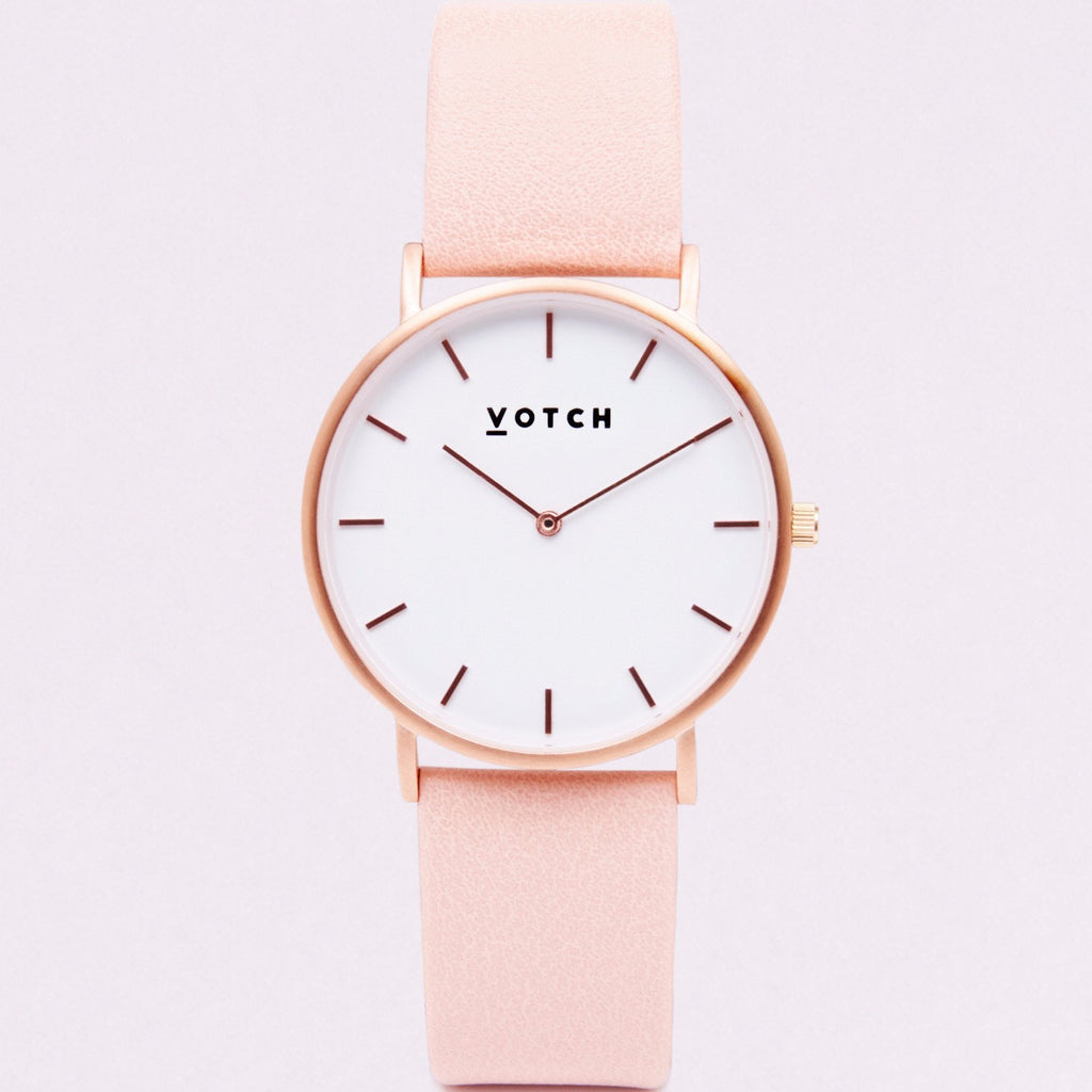Votch Watch in Pink and Rose Gold-Unisex Watch-Votch-Unicorn Goods