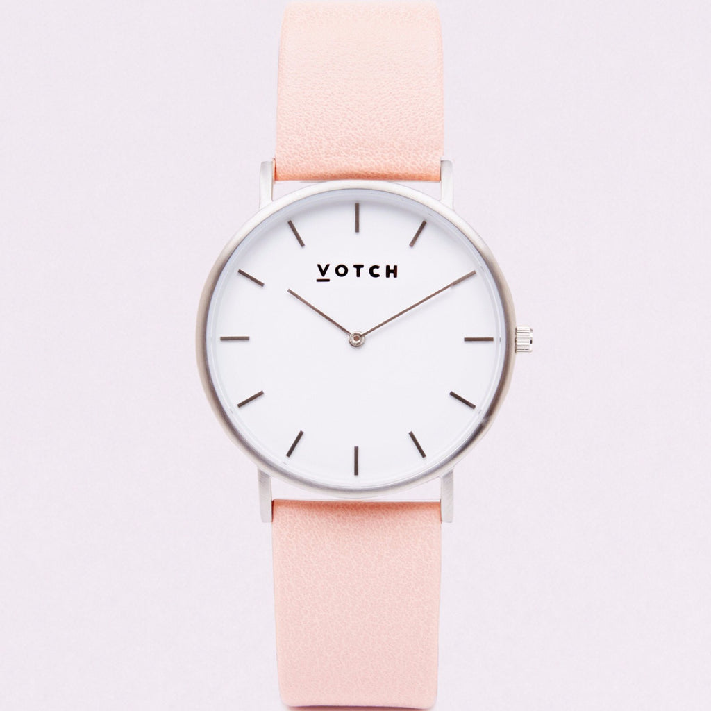 Votch Watch in Pink and Silver-Womens Watch-Votch-Unicorn Goods