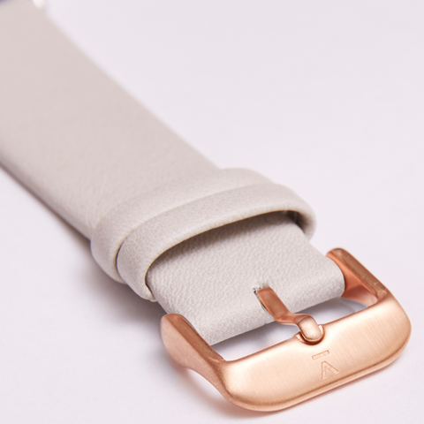 Votch Watch Light Grey and Rose Gold Strap-Unisex Watch-Votch-Unicorn Goods