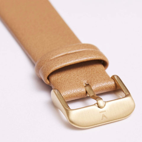 Votch Watch Tan and Gold Strap-Unisex Watch-Votch-Unicorn Goods