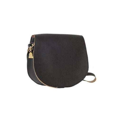 Wilby Cork Saddlebag in Black-Womens Crossbody-Wilby-Unicorn Goods