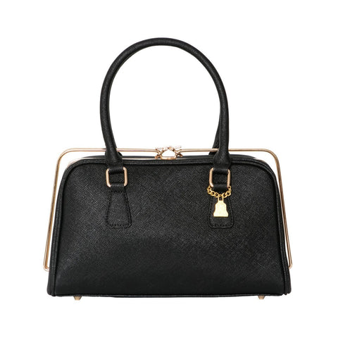 Wilby Metal Rimmed Handbag in Black-Womens Purse-Wilby-Unicorn Goods