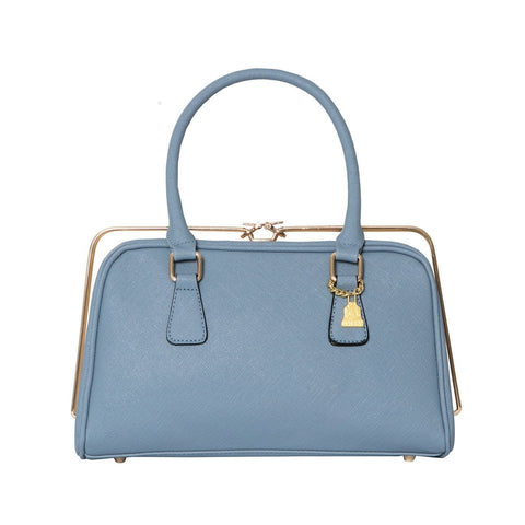 Wilby Metal Rimmed Handbag in Pale Blue-Womens Purse-Wilby-Unicorn Goods