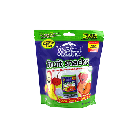 Yummy Earth Organic Fruit Snacks - Banana, Cherry, Peach and Strawberry (5 snack packs)-Candy-Food-Unicorn Goods