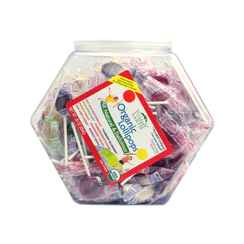 Yummy Earth Organic Lollipops Counter Top Bin (125 pops)-Candy-Food-Unicorn Goods