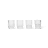 Ferm Living Small Ripple Glasses - Set of 4, Ferm Living, Huset | Modern Scandinavian Design