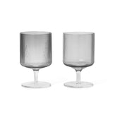 Ferm Living Ripple Wine Glasses Set of 2, Ferm Living, Huset | Modern Scandinavian Design