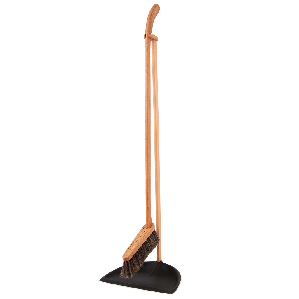 Iris Hantverk Standing Dustpan and Brush Set - Huset Shop - 1