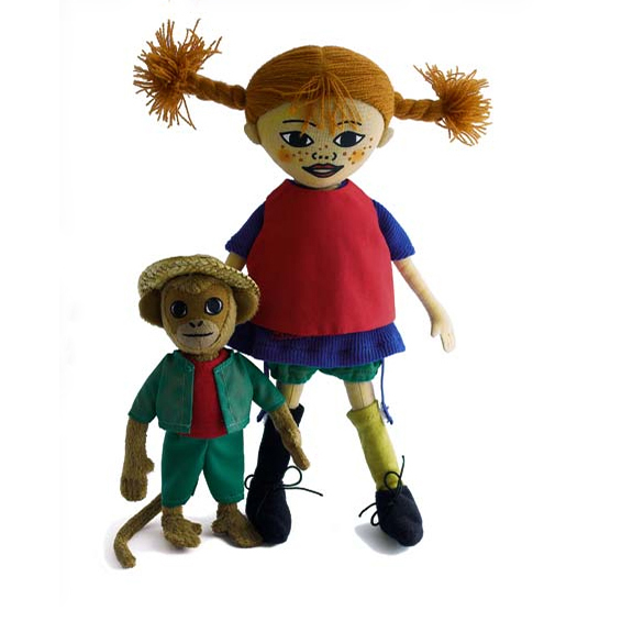 Pippi and Herr Nilsson Doll Set, Hjelm Toys, Huset | Modern Scandinavian Design