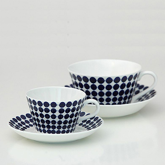 Gustavsberg Adam Coffee Cup and Saucer by Stig Lindberg - Huset Shop - 1
