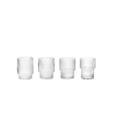 Ferm Living Ripple Glass (Set of 4), Ferm Living, Huset | Modern Scandinavian Design