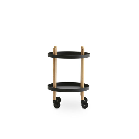 Normann Copenhagen Round Block Rolling Cart Table