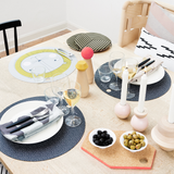 OYOY Round Silicone Placemat Set, OYOY, Huset | Modern Scandinavian Design
