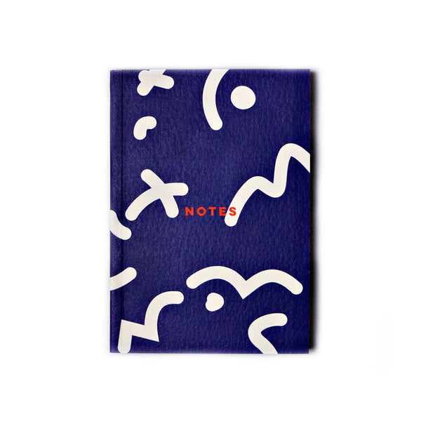 The Completist Blue Space Squiggle Pocket Notebook