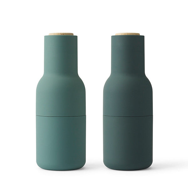 Menu Bottle Grinders Sold by Huset-shop Designed by Norm Architects. Colors: Dark Green