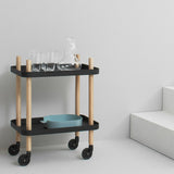 Normann Copenhagen Block Rolling Cart Table - Huset Shop - 3