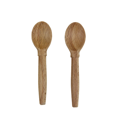Sir Madam Beechwood Salt Cellar Spoons - Set of 2