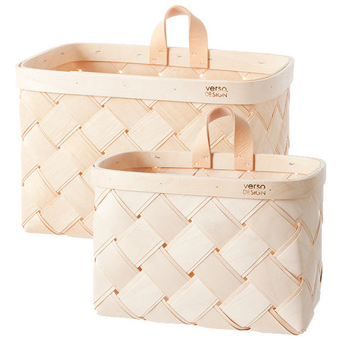 Verso Lastu Birch Wall Basket