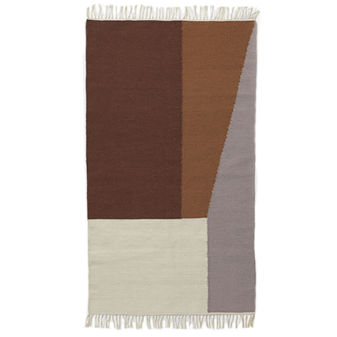 Ferm Living Kelim Rug - Borders
