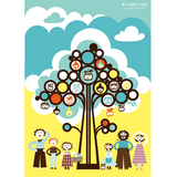 Isak Family Poster Family Tree - Huset Shop - 1