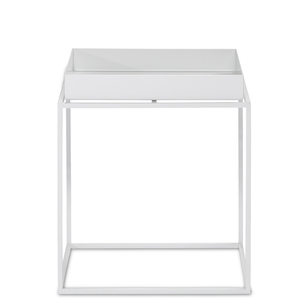 Shop Aira Black Square Coffee Table With Modern White Tray: HAY Tray Table – Huset