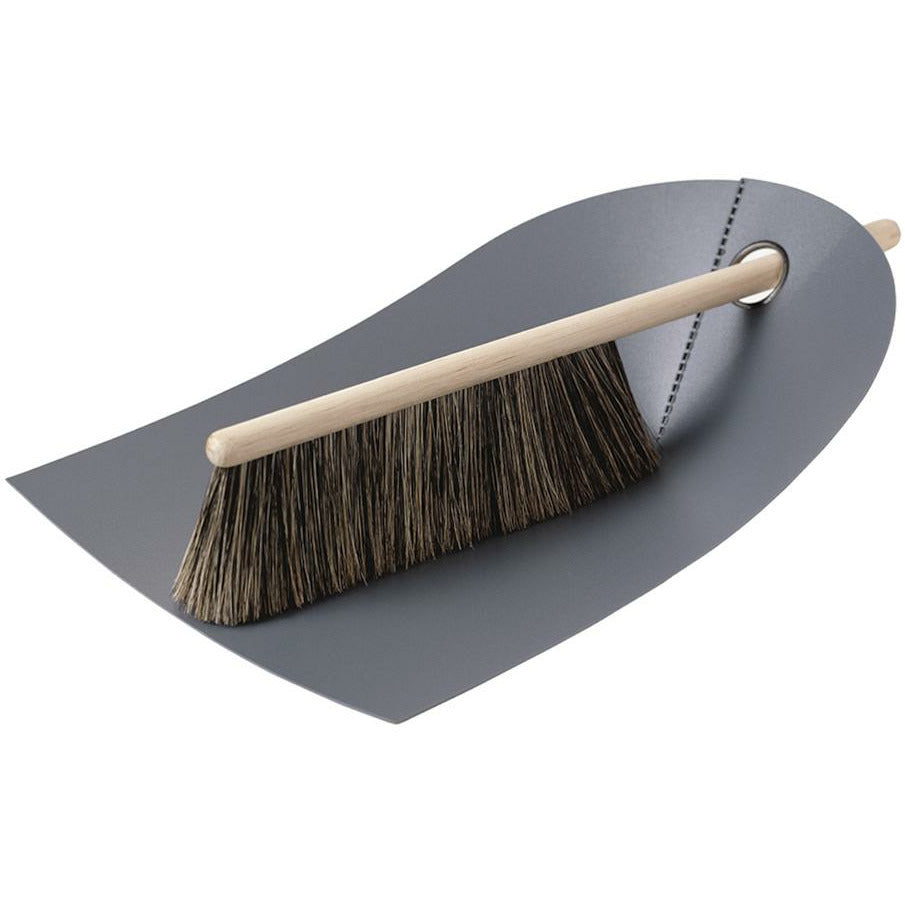 Normann Copenhagen Dustpan and Broom Set - Dark Grey